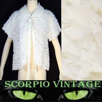 Vintage 50's Ruffled Bed Jacket