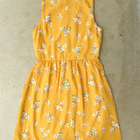 Blooming Canary Dress [3135] - $37.00 : Vintage Inspired Clothing & Affordable Summer Dresses, deloom | Modern. Vintage. Crafted.