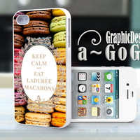 iPhone 4 case, Ladurée Macaron design, custom cell phone case, Original design