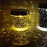 2oz. mini YELLOW sunny STAR JAR // upcycled constellation nightlight