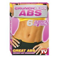Crunchless Abs - 6 10-Minute Workouts on 2 DVD`s!!!