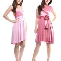 Pink Romance/Blush Pink Reversible Convertible Dress