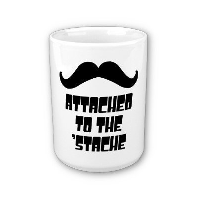 Attached to the 'Stache Mugs from Zazzle.com