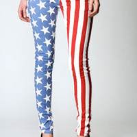 Carly USA Paint Printed Skinny Jeans