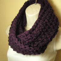 Deep Purple Cowl Infinity Circle Scarf Neckwarmer