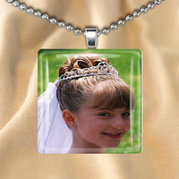 Custom Photo Jewelry Glass Pendant