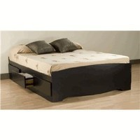 Prepac Sonoma Black Double Platform Storage Bed (6-drawers)