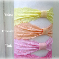 "Stretch Lace Headbands -- 2"" wide -- You choose 5 Headbands"