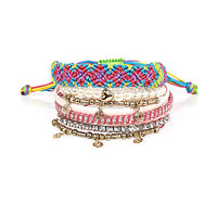 multi coloured pack of bangles