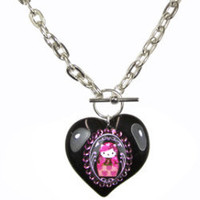 Tarina Tarantino Pink Head Hello Kitty Toggle Necklace | eBay