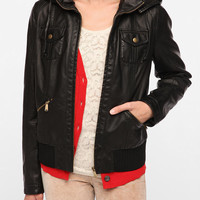 BDG Vegan Leather Bomber Jacket