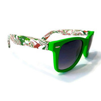 Neon Green and Red Green-faced Wayfarers