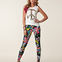 Tropical Print Legging, Ax Paris