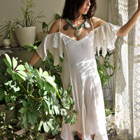 White Gauze Steve Nicks Gypsy Dress by PrismOfThreads on Etsy