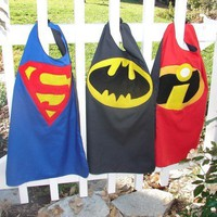 Superhero reversible childrens cape with mask - BATMAN AND SUPERMAN