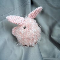 Crochet Amigurumi Fluffy Bunny Pink Rabbit Crochet Doll