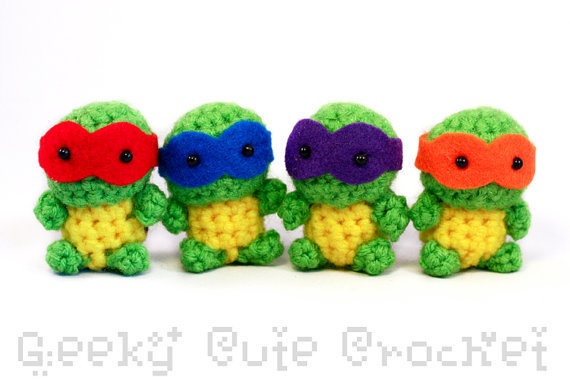 Tiny Teenage Mutant Ninja Turtles Amigurumi - MADE TO ORDER