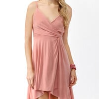 Knotted Surplice Skater Dress