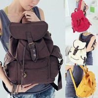 Women NEW Fashion Cute Canvas Shoulder Bag Backpack 5 Colors SIM GL WHB093