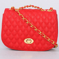 The Bernadette Bag in Red