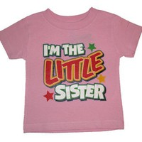 I`m The Big Sister/Little Sister/Big Brother/Little Brother T-Shirts - New Baby Gift (Pink & Blue)