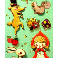 3D Red Little Riding Hood Embellishment Stickers 13 by Room415