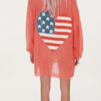 Wildfox American Heart Manhattan Cardigan