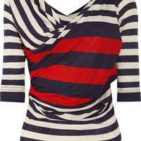 Vivienne Westwood Anglomania | Priestess striped jersey top | NET-A-PORTER.COM