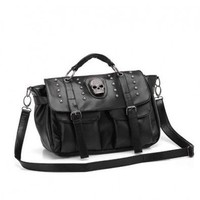 Skull Studded Bag with Belt Detail