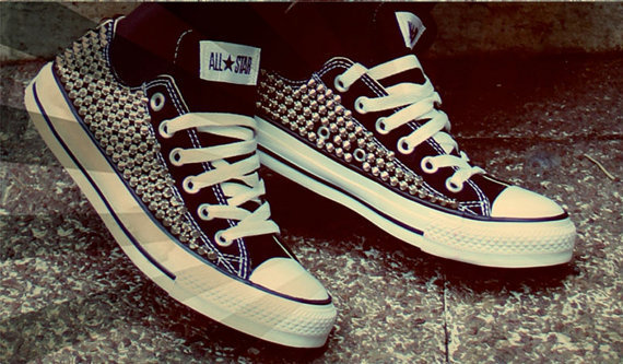 Custom Spike Studded Converse Shoes (ONE SIDED SHOES)