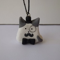 Waggletom the Top Hatter Itty Bitty Kitty Cat Necklace Pendant MADE TO ORDER