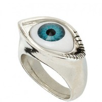 Silver Metal Eyeball Ring