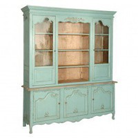 Duck Egg Blue Large Glazed Display - Display Cabinets - Living Room