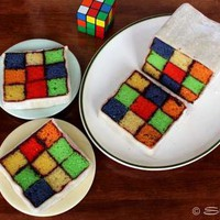 Instructions for Rubik's Cube Cake