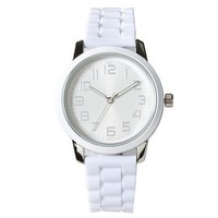 Xhilaration® Silicone Strap Watch - White