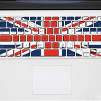UK flag -MAC pro keyboard applique decals mac pro apple MAC keyboard stickers macbook stickers
