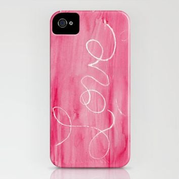Crayon Love:  Love is Messy iPhone Case by Catherine Holcombe | Society6