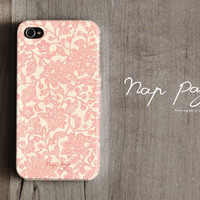 Apple iphone case for iphone iphone 4 iphone 4s iphone 3Gs : Abstract pink flower