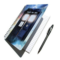 TARDIS Dr. Who Notebook Journal Diary The Doctor UpCycled