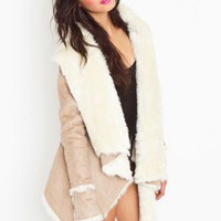 Chelsea Shearling Coat - NASTY GAL
