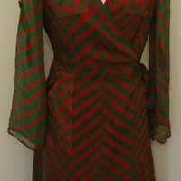 Vintage Diane Von Furstenberg Silk Wrap Dress