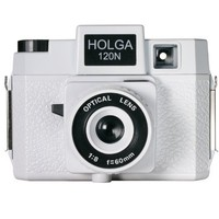 Holga 173120 120N Casablanco Holgawood Collection Plastic Camera (White)