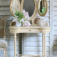 SOLDAntique Old Louis XVI French Vanity - $2595 - The Bella Cottage