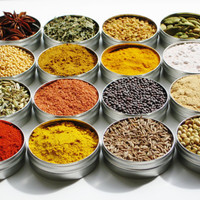As seen in the Huffington Post - Indian Spice Kit - 16 exotic herbs &amp; spices for cooking / grilling - 4 recipes included - gourmet DIY gift