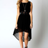 Laurie Lace Waist Sleeveless Mixi Dress