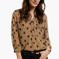 Black Hearts Blouse $44