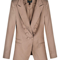 Double Breasted Khaki Blazer [NCSUX0122] - $122.99 :