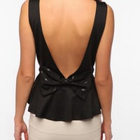 Pins and Needles Bow Back Peplum Tank Top