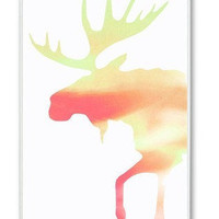 Colorful Art Deco Moose On iPhone 4 Case, iPhone 4s Case, iPhone 4 Hard Case, iPhone Case-graphic Iphone case