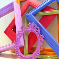 Vintage Frames, Open Frames, Little Bo Peep, Funky Home Decor, Bright Frames, Upcycled